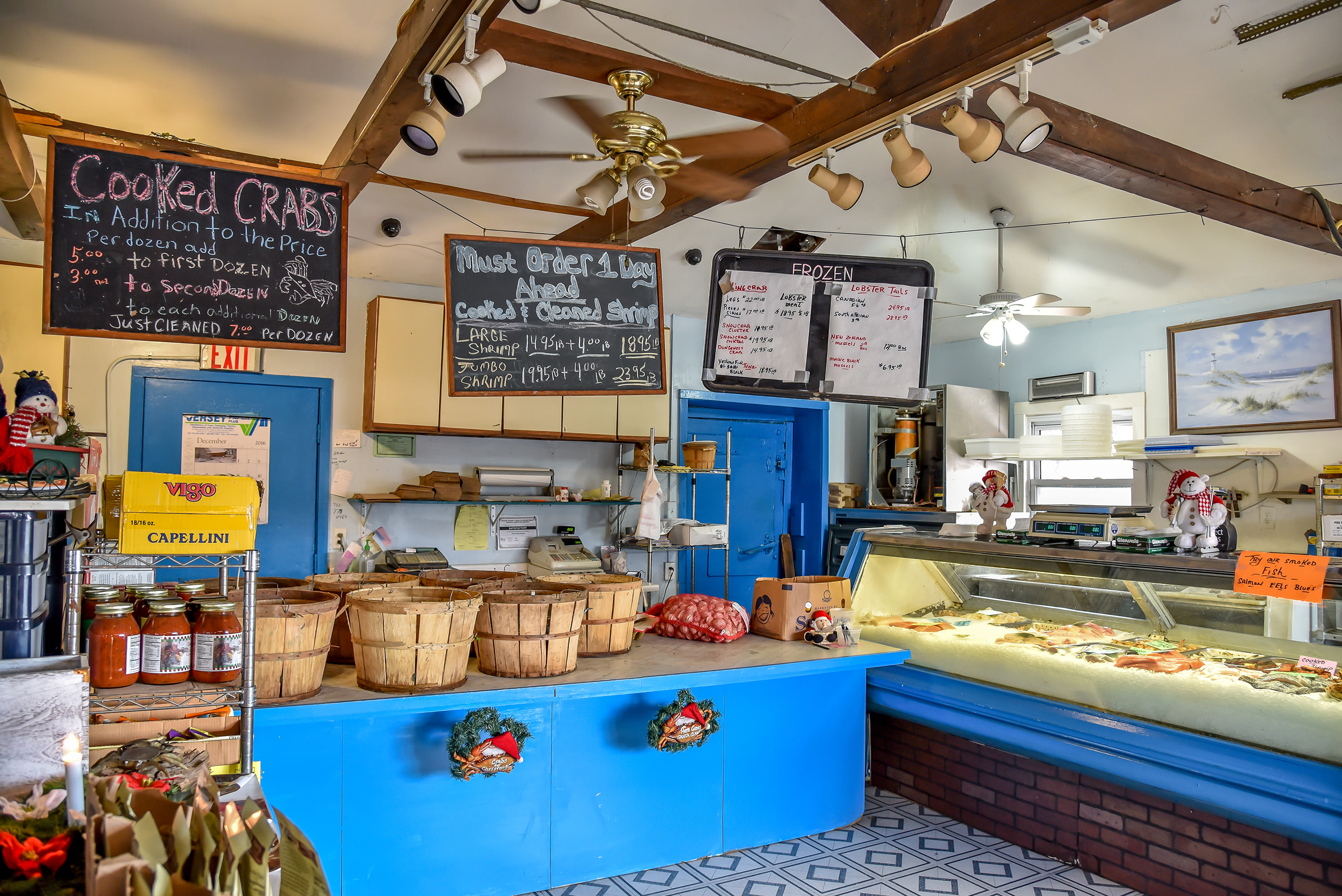 check out our selection of fresh seafood in addition to our cooked seafood